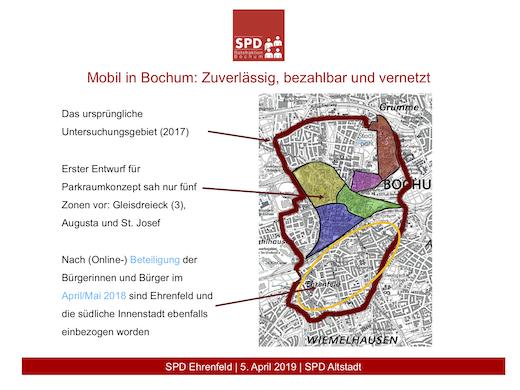 Gesamtkonzept Ruhender Verkehr: Ursprünglicher Planungsbereich und Ausweitung auf das Ehrenfeld und die Südinnenstadt