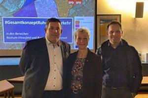 Bürgerversammlung zum Gesamtkonzept Ruhender Verkehr mit Jens Matheuszik, Martina Schnell und Hendrik Schöpper
