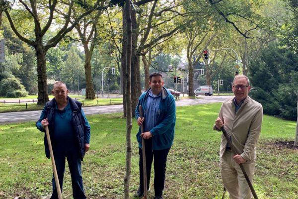 Reiner Gräser (SPD), Bezirksvertretung Bochum-Mitte, Jens Matheuszik (SPD), Vorsitzender der SPD im Ehrenfeld, Karsten Rudolph (SPD), Landtagsabgeordneter für das Ehrenfeld (v. l. n. r.)